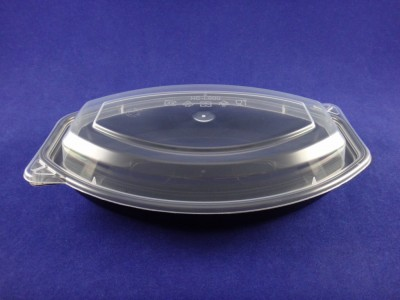 I-912D16 PP Oblong Microwavable Container, 16 oz